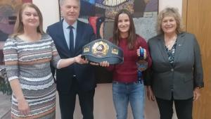 ЮЗУ посрещна световната №1 по борба Биляна Дудова