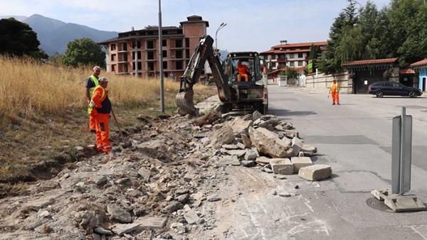 Започна рехабилитацията на обходното трасе на Банско