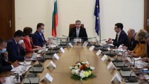 Кметът на община Белица Радослав Ревански на среща със служебния премиер Стефан Янев