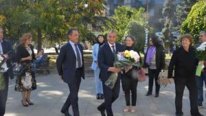 Кметът Илко Стоянов и италиански прокурор почетоха паметта на Джовани Фалконе в Благоевград
